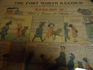 1906 Fort Worth Record Buster Brown Sunday Funnies Vintage Newspaper