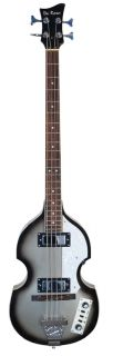 Beatle Bass Violin Shape Vintage Silverburst Classic Beatles Style New
