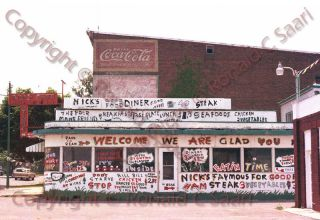 Nicks Good Food DIner, Front Royal, Virginia, VA, 5x7 Print