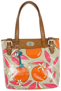 Fossil Key per Shopper Fruit Coated Canvas Handbag New