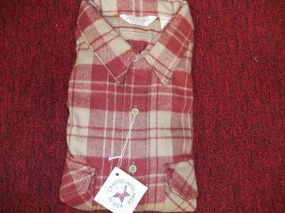 Vintage Flannel Shirt Frostproof Heavy Cotton Made in USA 3X Red Blue