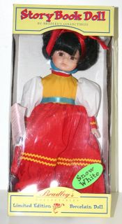 Porcelain Snow White Doll 12 inches Tall Bradley Dolls