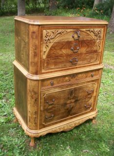 Marquetry Masterpiece Antique Furniture Dresser French Provincial 1910
