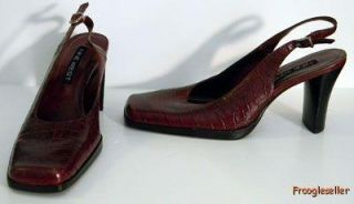 Nine West Womens Foxworth Slingback Heels Shoes 6 5 M Burgundy Leather