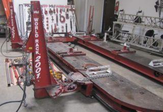 Kansas Jack World Rack 2001 Frame Straightening Machine Three Towers