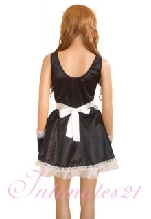 Hot Sexy Naughty White Bow french Maid Halloween Costume Dress