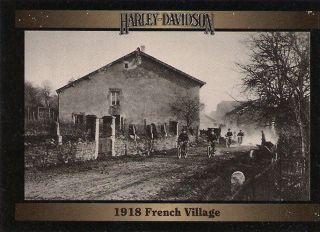 1918 U s Signal Corps in French Village World War I Harley Davidson