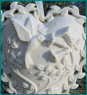 Margaret Furlong Porcelain Love Song Heart Ornament 1999