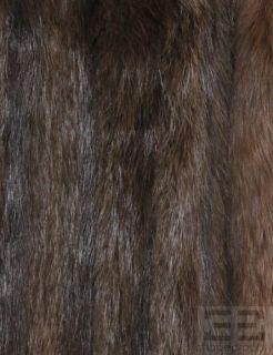 Trager Furs Brown Long Haired Beaver & Fox Fur 3/4 Length Coat