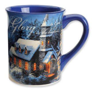 Thomas Kinkade Painter of Light Church Yard Ceramic Coffee Mug