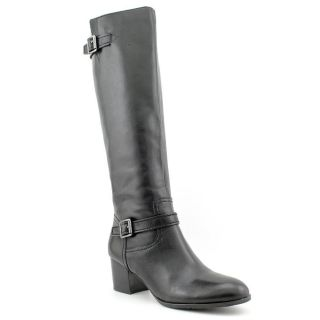 Franco Sarto Opera Womens Size 8 Black Leather Fashion Knee High Boots