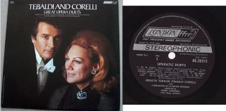 Renata Tebaldi and Franco Corelli Great Opera Duets LP London Stereo