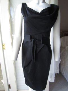 Fuzzi Black Stretch Dress with Belt XS