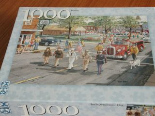 FX Schmid Jigsaw Puzzle Independence Day 1000 Pieces Complete 4th of