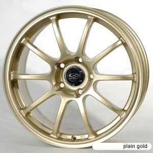 17 Rota G Force Gold Rims Wheels 17x7 5 48 5x100 Subaru WRX Impreza