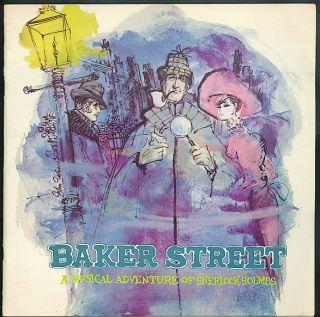 Fritz Weaver Inga Swenson Baker Street Sherlock Holmes Theatre Program