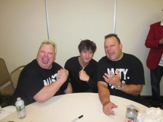 Signed Tag Team Belt USOs Rey Mysterio Demolition Daniel Bryan