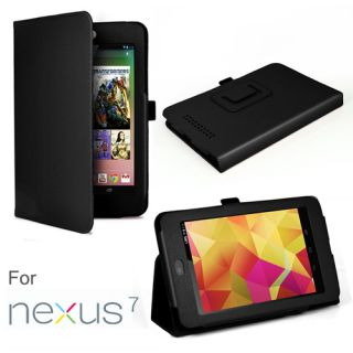 PU Leather Folio Case for Google Nexus 7 Tablet with 3 in 1 Built in