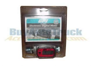 GPI 01A31LM Alum Electronic Digital Fuel Meter w 1in Female NPT Thread