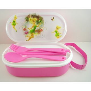 TINKERBELL Tinker Bell Pink Food Storage Container Lunch Box Case SET