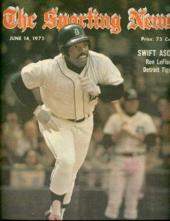 1975 Sporting News Detroit Tigers Ron LeFlore No Label
