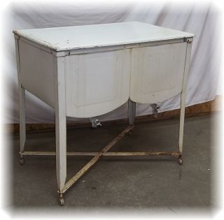 Double Wash Tub Galvanized Metal Stand Planter Ice Chest Cooler Beer