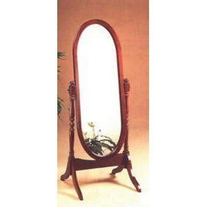 Traditional Cherry Cheval Mirror Full Length Floor Dress Bath Room