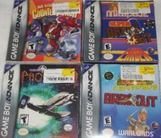 Lot of 4 New Game Boy Advance Games Counter Punch Wing Commander