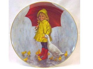 McClelland 1st Ltd Ed Collector Plate RAINY DAY FUN World of Children