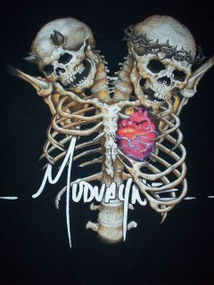 Mudvayne Heavy Metal Band Spinal Cord Skeletons T shirt Size M