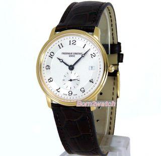 Frederique Constant Watch Swiss Quartz Gold Plated Sapphire 37mm FC
