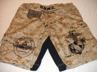 USMC Marines Force Recon Desert MARPAT MMA PT Board Fight Shorts 3X