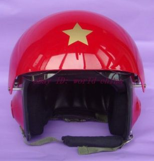 Red Fighter Pilot Helmet   Motorcycle Ski M L XL Air Force USAF Jet