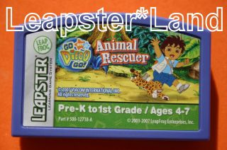 Leapfrog GO DIEGO GO ANIMAL RESCUER Ages 4 7 Cartridge Game NICK JR