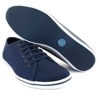 Fred Perry B8084W Phoenix Womens Laced Canvas Plimsoll Carbon Blue