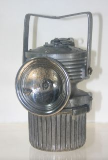 Fred R Belt Lu MI Num No 7 Carbide Miners Hand Lamp
