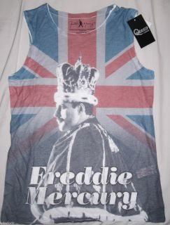 Freddie Mercury Queen Union Jack Flag Vest T Shirt Rock Festival