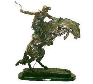 Bronco Buster by Frederic Remington Solid Bronze Statue Sculpture All
