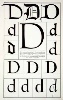 Letter D Typeface Design Roman Greek Print Frederic Goudy