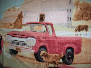 Ford Truck Fleece Fabric Throw Blanket Personalized Free