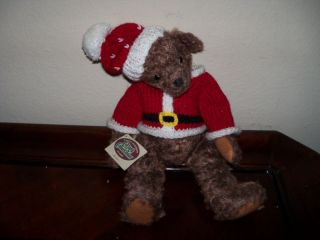 Ganz Cottage Collectibles Teddy Bear Santa Suit Bernie