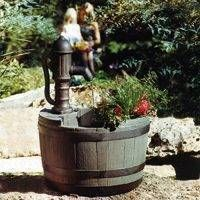 Yard Garden Whiskey Planter Barrel Water Fountain Pump