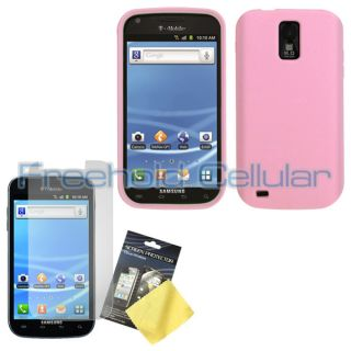 Light Pink Silicone Skin Cover Case Film for T Mobile Samsung Galaxy S