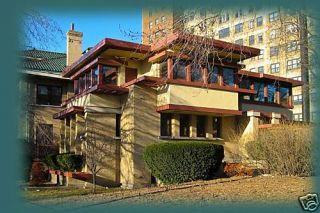 Frank Lloyd Wright Prairie Home Brick Wood Stucco