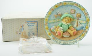 Teddies Little Jack Horner IM Plum Happy Youre My Friend Plate