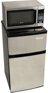 in 1 Mini Fridge Freezer Microwave Combo Compact Dorm Office