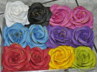 Large 6 Silk Garden Rose Flower Bridal Clips Hair Pin Clips