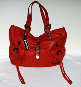 Red Designer Satchel Purse Handbag Western Stylelarge