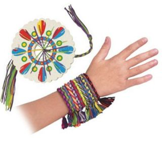 Children and adults will love theFriendship Bracelet Kit Set Activity