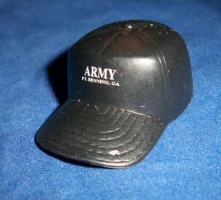 Scale Army Fort Benning GA Black Cap Hat for A 12 Figure